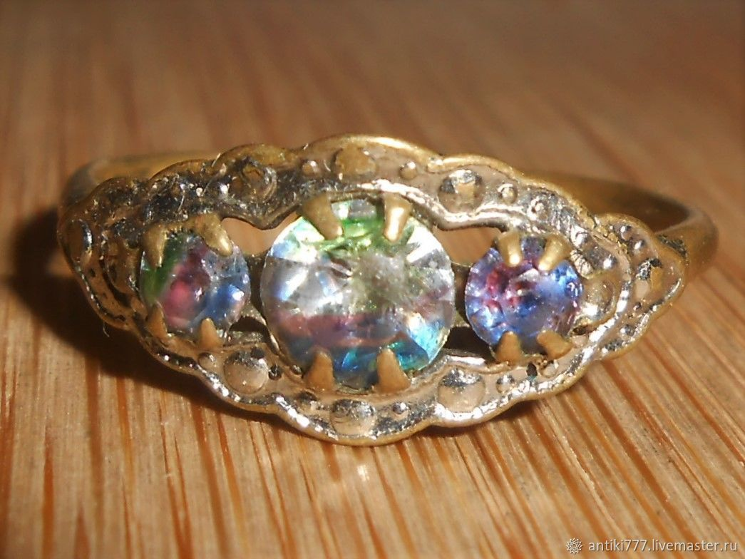 Vintage ring with Iris glass, Vintage ring, Moscow,  Фото №1