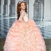 Платье Кассандра-люкс-абрикос