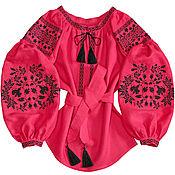 "Одежда handmade. Livemaster - original item Blouse with embroidery ""Thirst of Life"". Handmade."