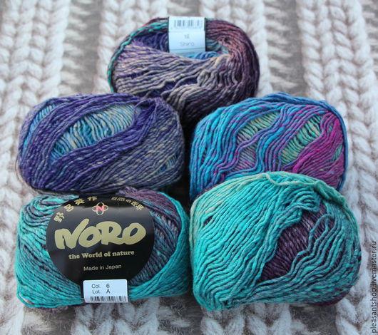 Вязание ручной работы. Ярмарка Мастеров - ручная работа. Купить Noro Shiro Blue Mix. Handmade. Разноцветный, пряжа в мотках