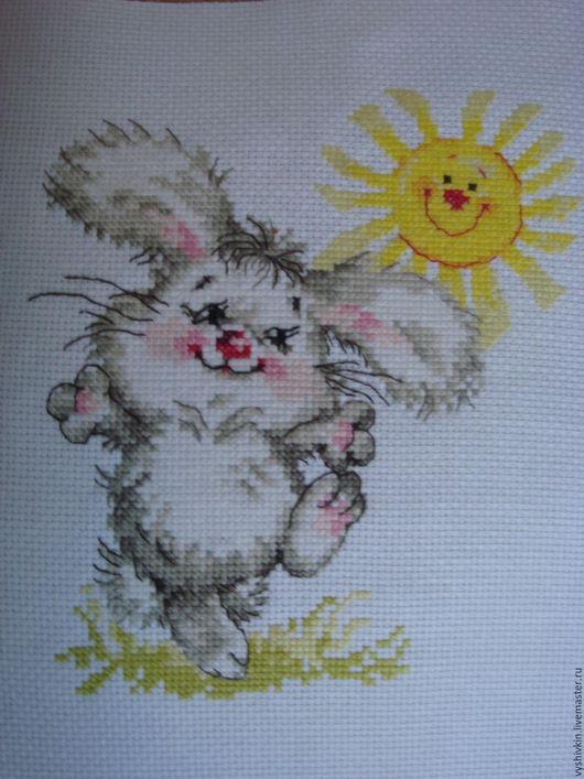 Животные ручной работы. Ярмарка Мастеров - ручная работа. Купить Самый солнечный день!. Handmade. Комбинированный, Вышивка крестом, вышивка