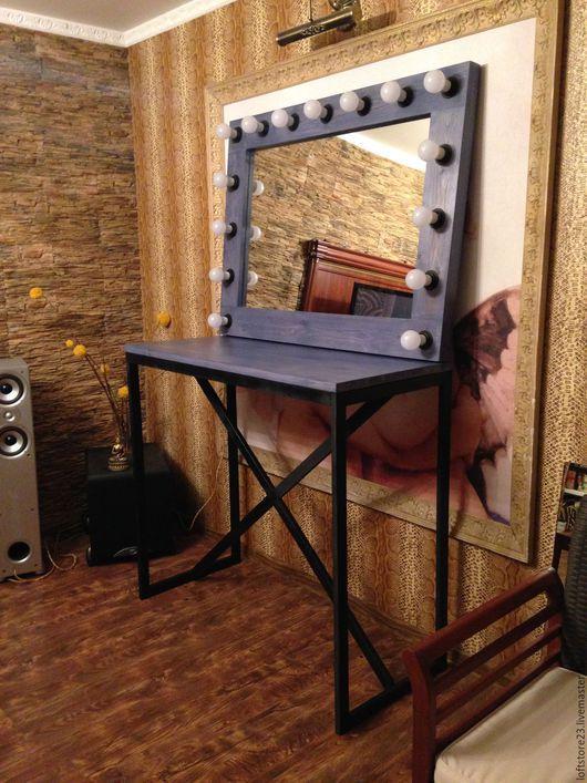 """Мебель ручной работы. Ярмарка Мастеров - ручная работа. Купить Комплект визажиста """"BLUETEC"""". Handmade. Тёмно-синий, комплект визажиста"""