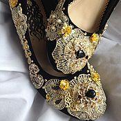 """Обувь ручной работы. Ярмарка Мастеров - ручная работа Туфли""""Golden Venice""""в стиле DG. Handmade."""