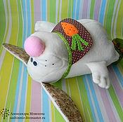 Куклы и игрушки ручной работы. Ярмарка Мастеров - ручная работа Зайка в пинетках. Handmade.