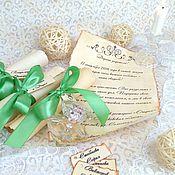 """Свадебный салон ручной работы. Ярмарка Мастеров - ручная работа Приглашения """"Старинный свиток"""". Handmade."""