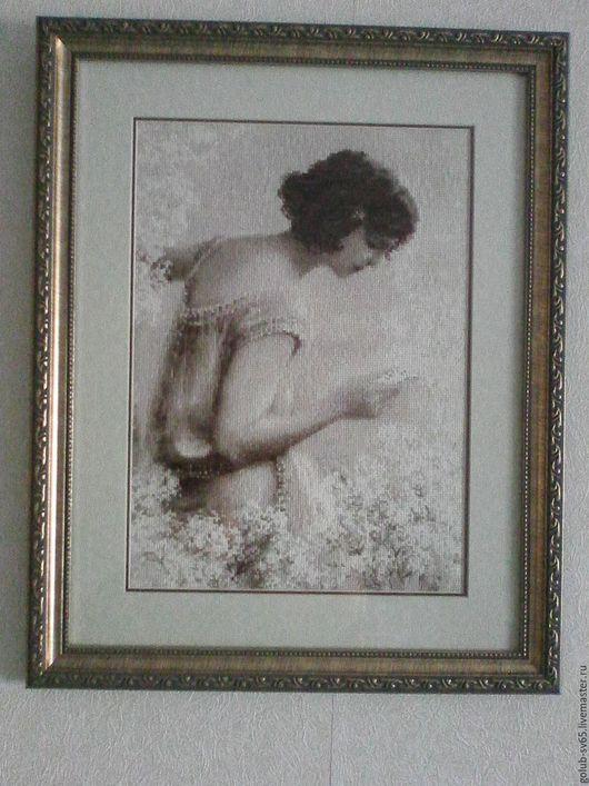 Люди, ручной работы. Ярмарка Мастеров - ручная работа. Купить Старая фотография. Письмо.. Handmade. Серый, каартина в подарок, паспарту