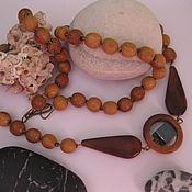 Украшения handmade. Livemaster - original item Choker, eco-beads for men and women, made of wood and hematite. Handmade.