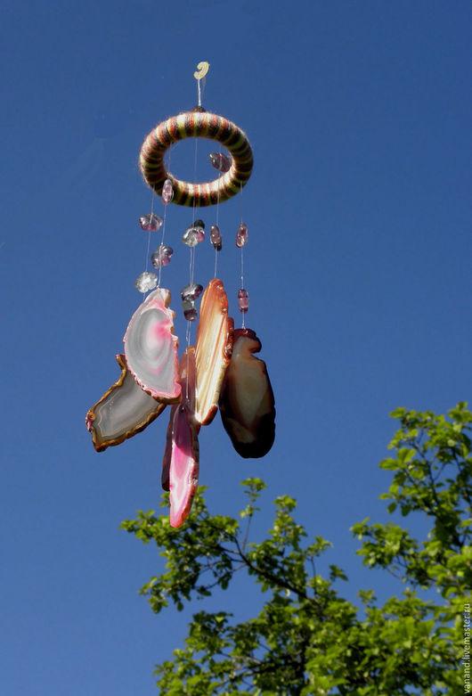 """Медитация ручной работы. Ярмарка Мастеров - ручная работа. Купить Ветряной колокольчик """"Волшебные лепестки"""". Handmade. Колокольчики, украшения с камнями"""
