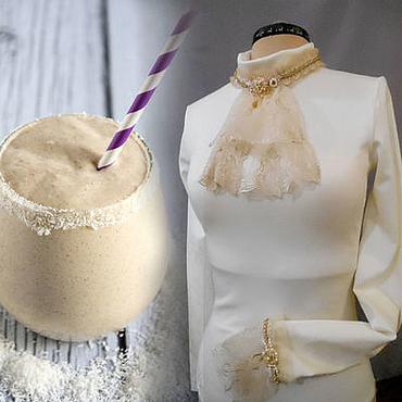 Одежда ручной работы. Ярмарка Мастеров - ручная работа Молочный коктейль. Боди джерси молочный. Весна.. Handmade.