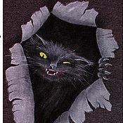 Одежда ручной работы. Ярмарка Мастеров - ручная работа Футболки монохромные с котами. Handmade.