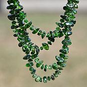 Украшения handmade. Livemaster - original item Beads of diopside emerald scattering. Handmade.