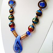 Украшения handmade. Livemaster - original item Necklaces beads with decorative glass in East Arabesque.. Handmade.
