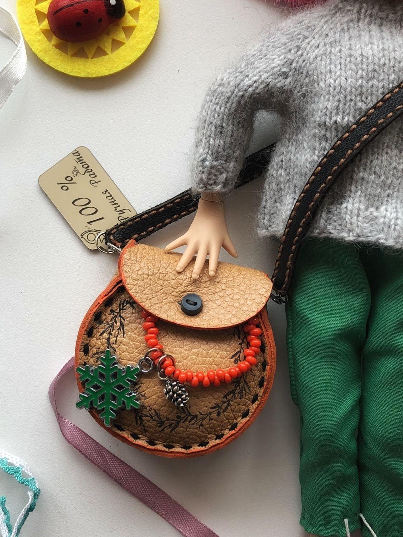 Миниатюра ручной работы. Ярмарка Мастеров - ручная работа. Купить Сумочка «Единорожка». Handmade. Кукла, сумка для кукол