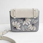 Crossbody bag handmade. Livemaster - original item Crossbody bag, Small leather for women, with hand embroidery.. Handmade.