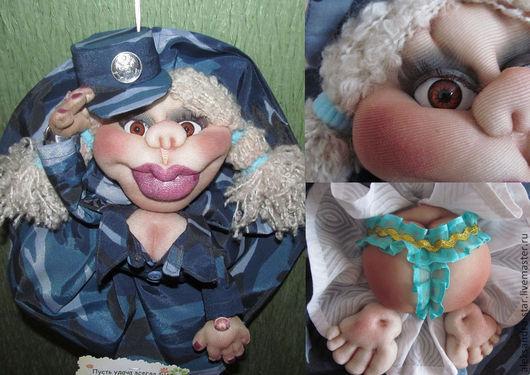 """Человечки ручной работы. Ярмарка Мастеров - ручная работа. Купить Кукла-попик на удачу. """"Честь имею!"""" в преддверии праздника 23 февраля. Handmade."""
