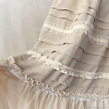 Одежда ручной работы. Ярмарка Мастеров - ручная работа Бежевая юбочка,длинная в стиле бохо. Нижняя юбочка. Handmade.