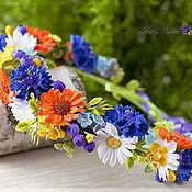 Украшения ручной работы. Ярмарка Мастеров - ручная работа Венок с полевыми цветами. Handmade.