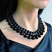 Украшения handmade. Livemaster - original item Necklace with black onyx, agate