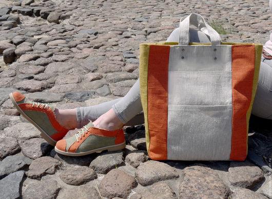 Льняная сумка .Магазин ДИВИЯ