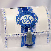Свадебный сундучок своими руками синий