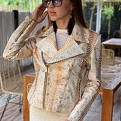 Одежда handmade. Livemaster - original item Jacket from Python. Handmade.