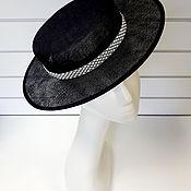 Аксессуары handmade. Livemaster - original item Low hat boater straw sinamay. Handmade.