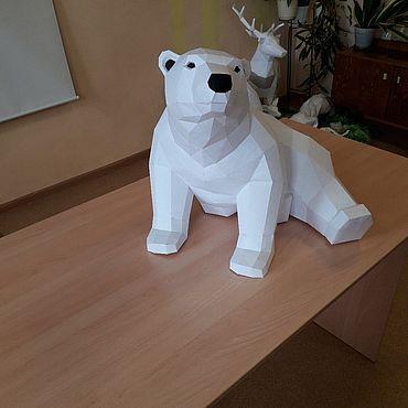 Для дома и интерьера ручной работы. Ярмарка Мастеров - ручная работа Медведь полярный. Handmade.