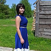 Одежда ручной работы. Ярмарка Мастеров - ручная работа Платье для стильных женщин Синева. Handmade.