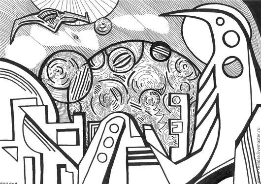 Фантазийные сюжеты ручной работы. Ярмарка Мастеров - ручная работа. Купить Графические работы на заказ. Handmade. Чёрно-белый, бумага