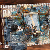Фотоальбомы ручной работы. Ярмарка Мастеров - ручная работа Хулиганский мужской альбом. Handmade.