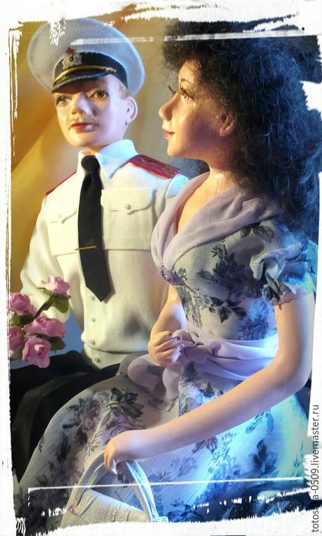 Портретные куклы ручной работы. Ярмарка Мастеров - ручная работа. Купить Свидание. Handmade. Разноцветный, офицер, акриловый лак