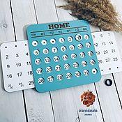 Канцелярские товары handmade. Livemaster - original item Two-color perpetual calendar. Handmade.