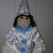 Куклы и пупсы ручной работы. Ярмарка Мастеров - ручная работа Марионетка Пьеро. Handmade.