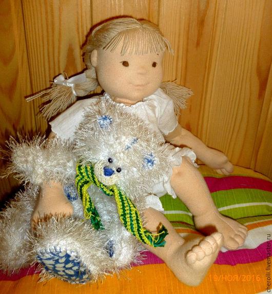 Вальдорфская игрушка ручной работы. Ярмарка Мастеров - ручная работа. Купить Кукла игровая. Handmade. Бежевый, кукла ручной работы