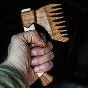 Сувениры и подарки handmade. Livemaster - original item Beard and Hair Comb Oak Axe. Handmade.