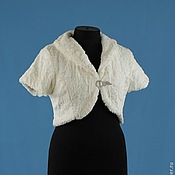 Свадебный салон handmade. Livemaster - original item Wedding jacket-Bolero ivory. Handmade.