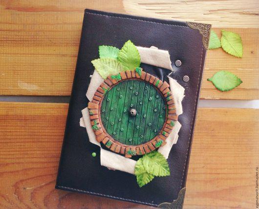 Блокноты ручной работы. Ярмарка Мастеров - ручная работа. Купить Блокнот с зеленой дверью. Handmade. Коричневый, толкин, записная книга