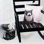 """Куклы и игрушки ручной работы. Ярмарка Мастеров - ручная работа Мягкая текстильная игрушка-подушка кот """"Аполлинарий"""". Handmade."""