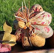 Для дома и интерьера ручной работы. Ярмарка Мастеров - ручная работа Текстильная тыква яблочная. Handmade.