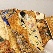 handmade. Livemaster - original item Quilt GUSTAV KLIMT patchwork quilt, patchwork set. Handmade.
