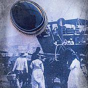 Винтаж handmade. Livemaster - original item White stripe. Antique Amulet Brooch. Handmade.