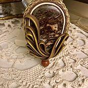 Украшения handmade. Livemaster - original item Brooch Jasper. Handmade.