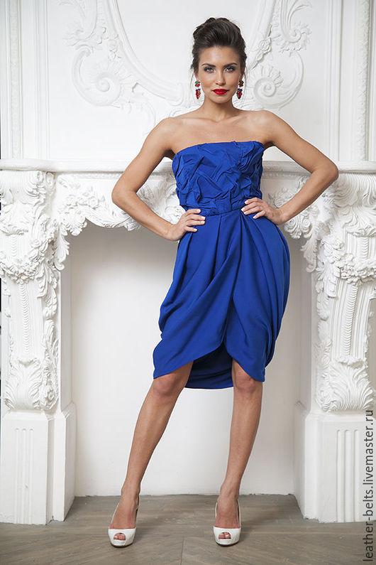 Платья ручной работы. Ярмарка Мастеров - ручная работа. Купить Платье на корсаже и юбкой-тюльпаном. Handmade. Тёмно-синий, выпускной