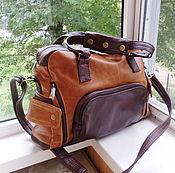 Сумки и аксессуары handmade. Livemaster - original item Bag leather men`s Brutal 2 for Dmitry). Handmade.