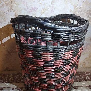 Для дома и интерьера ручной работы. Ярмарка Мастеров - ручная работа Корзины: Корзинка плетеная. Handmade.