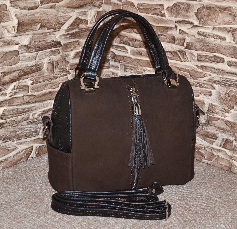 Model 1004 Bag leather women Handbag leather, Classic Bag, Bogorodsk,  Фото №1