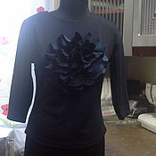 Одежда ручной работы. Ярмарка Мастеров - ручная работа Блузка синий пион. Handmade.