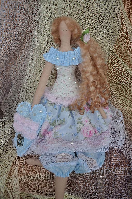 Куклы Тильды ручной работы. Ярмарка Мастеров - ручная работа. Купить Жемчужина Шебби. Handmade. Голубой, подарок на день рождения