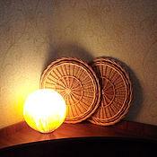 """Для дома и интерьера ручной работы. Ярмарка Мастеров - ручная работа """"Зимнее солнышко"""" панно плетеное из твовой лозы. Handmade."""