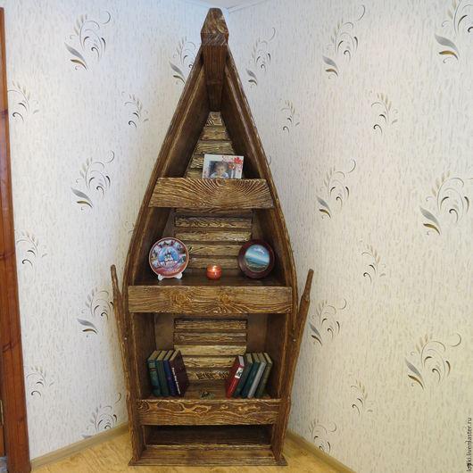 """Мебель ручной работы. Ярмарка Мастеров - ручная работа. Купить Стеллаж """"Лодка"""". Handmade. Коричневый, Мебель, дерево, массив"""